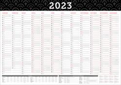 Großer Wandkalender 2019 abwischbar in DIN A1 (84 x 59,4 cm) gefalzt, fürs Büro. von Heisenberg,  Sophie