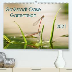 Großstadt-Oase Gartenteich (Premium, hochwertiger DIN A2 Wandkalender 2021, Kunstdruck in Hochglanz) von Wibke Hildebrandt,  Anne