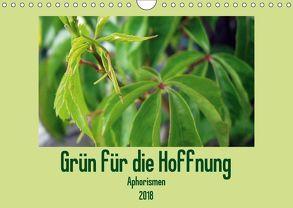 Grün für die Hoffnung – Aphorismen (Wandkalender 2018 DIN A4 quer) von Schilling und Michael Wlotzka,  Linda