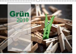 Grün / Geburtstagskalender / Terminplaner (Wandkalender 2019 DIN A3 quer) von calmbacher,  Christiane