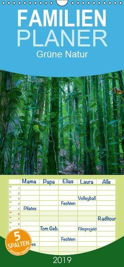 Grüne Natur – Familienplaner hoch (Wandkalender 2019 , 21 cm x 45 cm, hoch) von Hitzbleck,  Rolf