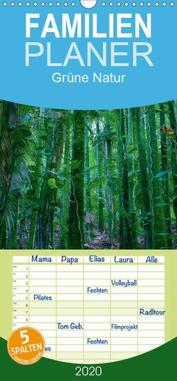 Grüne Natur – Familienplaner hoch (Wandkalender 2020 , 21 cm x 45 cm, hoch) von Hitzbleck,  Rolf
