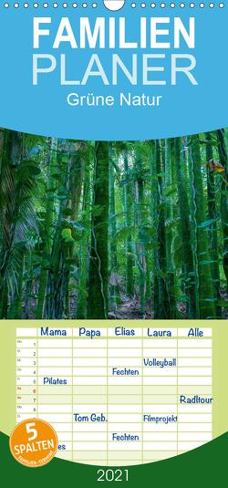 Grüne Natur – Familienplaner hoch (Wandkalender 2021 , 21 cm x 45 cm, hoch) von Hitzbleck,  Rolf
