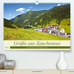 Grüße aus Zauchensee (Premium, hochwertiger DIN A2 Wandkalender 2021, Kunstdruck in Hochglanz) von Kramer,  Christa
