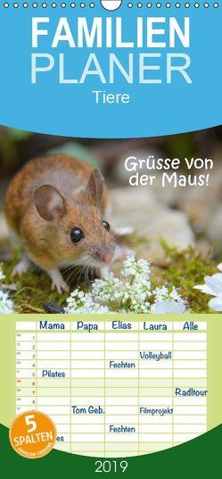 Grüsse von der Maus! – Familienplaner hoch (Wandkalender 2019 , 21 cm x 45 cm, hoch) von GUGIGEI