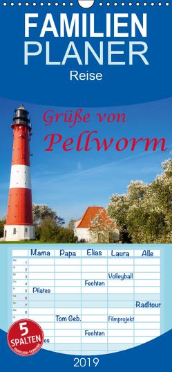 Grüße von Pellworm – Familienplaner hoch (Wandkalender 2019 , 21 cm x 45 cm, hoch) von photo impressions,  D.E.T.