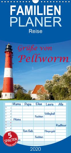 Grüße von Pellworm – Familienplaner hoch (Wandkalender 2020 , 21 cm x 45 cm, hoch) von photo impressions,  D.E.T.