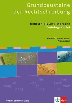 Grundbausteine der Rechtschreibung von Leemann Ambroz,  Katharina
