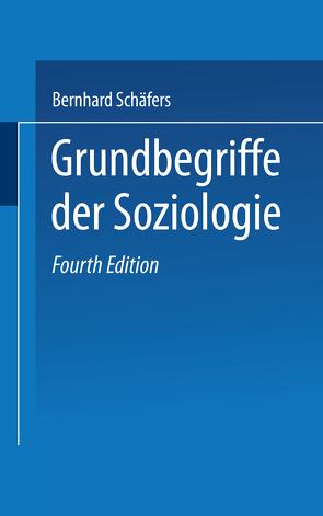 Grundbegriffe der Soziologie von Gukenbiehl,  Hermann L., Schäfers,  Bernhard