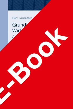 Grundfragen des Wirtschaftsstrafrechts von Achenbach,  Hans, Schroeder,  Christian