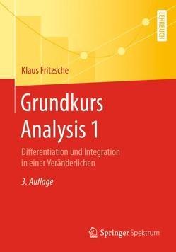 Grundkurs Analysis 1 von Fritzsche,  Klaus