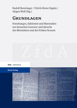 Grundlagen von Bentzinger,  Rudolf, Oppitz,  Ulrich-Dieter, Wolf,  Jürgen