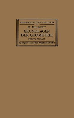Grundlagen der Geometrie von Hilbert,  David