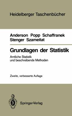 Grundlagen der Statistik von Anderson,  Oskar, Popp,  Werner, Schaffranek,  Manfred, Stenger,  Horst, Szameitat,  Klaus