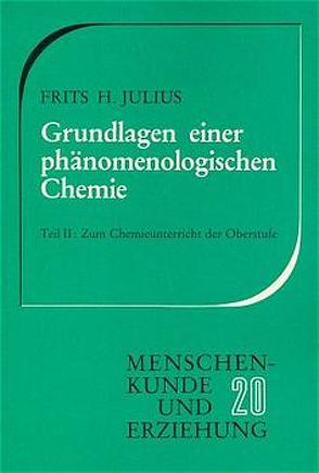 Grundlagen einer phänomenologischen Chemie / Zum Chemieunterricht der Oberstufe von Julius,  Frits H
