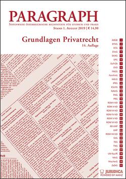 Grundlagen Privatrecht von Riedler,  Andreas