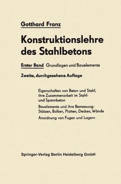Grundlagen und Bauelemente von Franz,  Gotthard