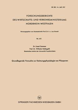 Grundlegende Versuche zur Keimungsphysiologie von Pilzsporen von Sommer,  Liesel