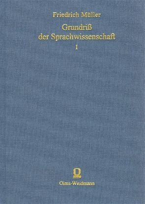 Grundriss der Sprachwissenschaft von Müller,  Friedrich