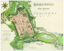 Grundriss der Stadt Lüneburg 1802 von Preuss,  Werner H