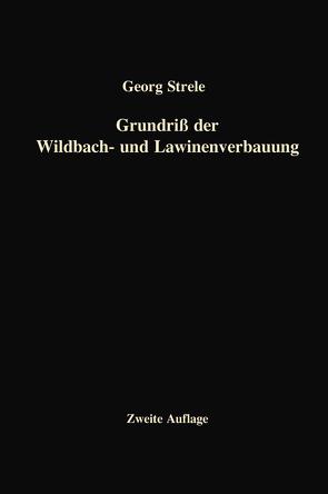Grundriß der Wildbach- und Lawinenverbauung von Strele,  Georg