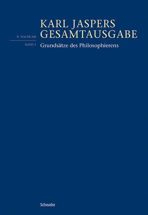 Grundsätze des Philosophierens von Jaspers,  Karl, Weidmann,  Bernd