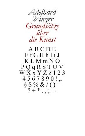 Grundsätze über die Kunst von Winzer,  Adelhard