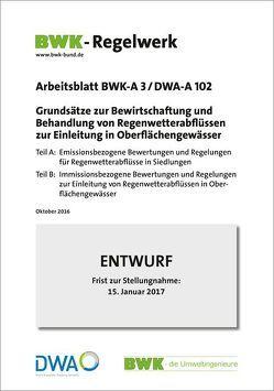 Grundsätze zur Bewirtschaftung und Behandlung von Regenwetterabflüssen zur Einleitung in Oberflächengewässer. Entwurf Oktober 2016.