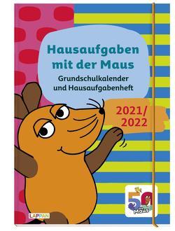Grundschulkalender und Hausaufgabenheft mit der Maus 21/22 von Diverse