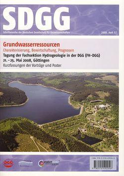Grundwasserressourcen: Charakterisierung, Bewirtschaftung, Prognosen von Kaufmann-Knoke,  R., Kerkhof,  A van den, Lodemann,  M, Ptak,  Th, Sauter,  M
