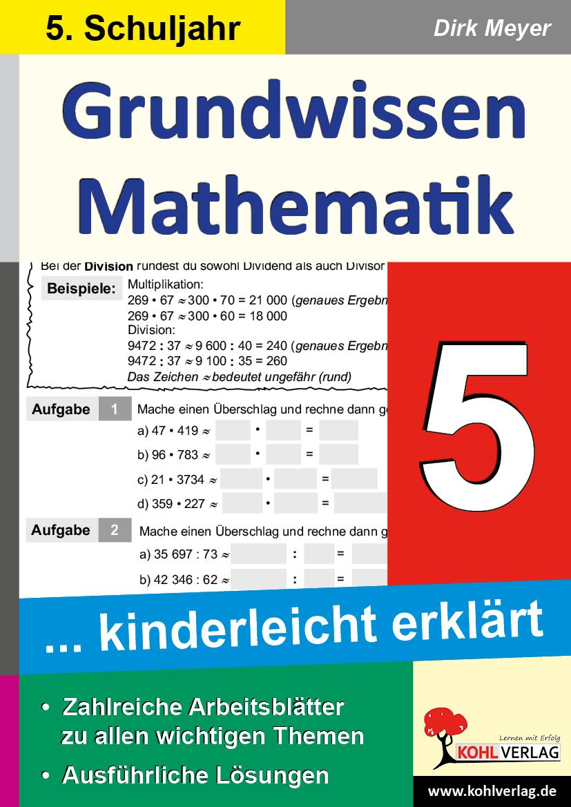 Grundwissen Mathematik / Klasse 5 von Meyer, Dirk: Grundwissen kinderl