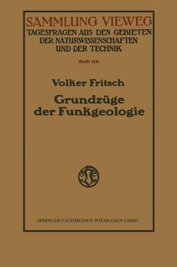 Grundzüge der Funkgeologie von Fritsch,  Volker