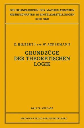 Grundzüge der Theoretischen Logik von Ackermann,  Walter, Hilbert,  David