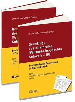 Grundzüge des bilateralen (Wirtschafts-)Rechts Schweiz – EU von Beglinger,  Jacques, Tobler,  Christa