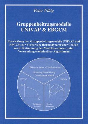Gruppenbeitragsmodelle UNIVAP & EBGCM von Ulbig,  Peter