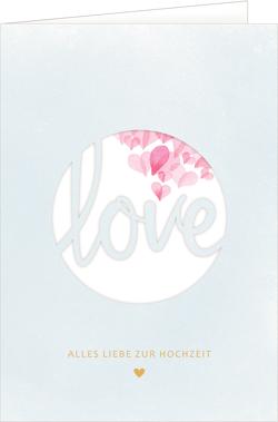 Grußkarte – Love (Hochzeit) von Dietzel,  Meike, Mußenbrock,  Anne
