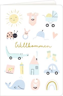 Grußkarten – Meine kleine Welt – Willkommen! von Schulte,  Tina
