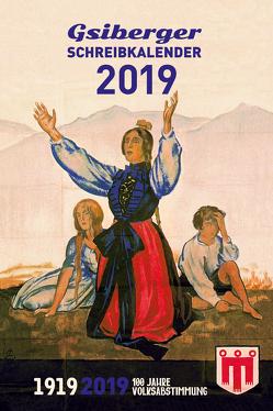 GSIBERGER SCHREIBKALENDER 2019 von Gabriel,  Ulrich