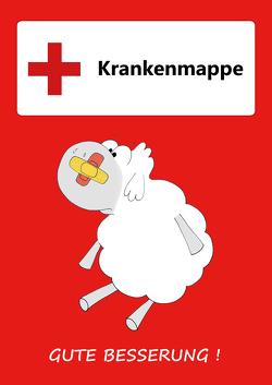 GSV Krankenmappe für die Grundschule Edgar, das Schaf – rot von Foerster,  Tamara