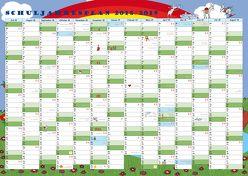 GSV Wandkalender – Schuljahresplan 2018/19 (DIN A2 Poster)