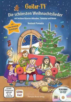 Guitar-TV: Die schönsten Weihnachtslieder (mit DVD) von Krause,  Martina, Pomaska,  Reinhold