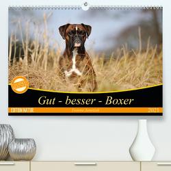 Gut – besser – Boxer (Premium, hochwertiger DIN A2 Wandkalender 2021, Kunstdruck in Hochglanz) von Janetzek,  Yvonne