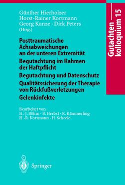 Gutachtenkolloquium 15 von Böhm,  H.-J., Herbst,  B., Hierholzer,  G., Kämmerling,  R., Kortmann,  H.-R., Kunze,  G., Peters,  D., Scheele,  H.