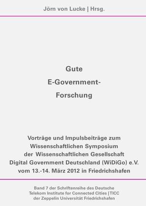 Gute E-Government-Forschung von von Lucke,  Jörn