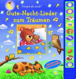 Gute-Nacht-Lieder zum Träumen – Vorlese-Pappbilderbuch mit 10 Melodien für Kinder ab 3 Jahren