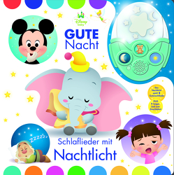 Gute Nacht! Schlaflieder mit Nachtlicht – Disney Baby – Pappbilderbuch mit abnehmbarem Nachtlicht und 6 stimmungsvollen Gute-Nacht-Liedern zum Einschlafen für Kinder ab 18 Monaten