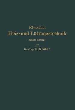 H. Rietschels Leitfaden der Heiz- und Lüftungstechnik von Bradtke,  F., Groeber,  Heinrich