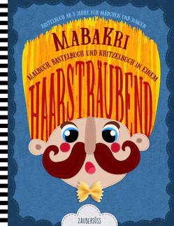 HAARSTRÄUBEND MaBaKri – Bastelbuch ab 3 Jahre für Mädchen und Jungen – Malbuch, Bastelbuch und Kritzelbuch in einem