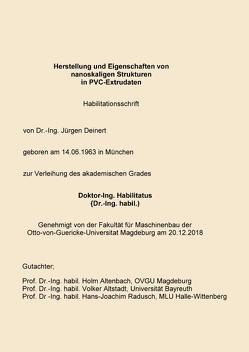 Habilitationsschrift von Deinert,  Jürgen