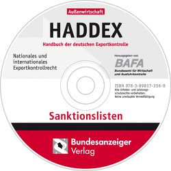 HADDEX-Sanktionslisten, CD-ROM